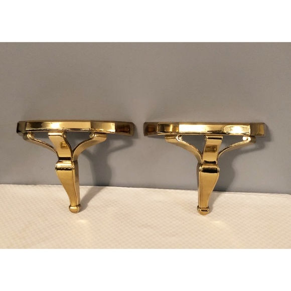 Home Interiors Other - 2 Home Interiors Gold Wall Shelves